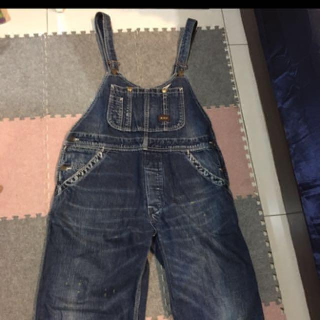 (保留中)Oversize牛仔吊帶褲