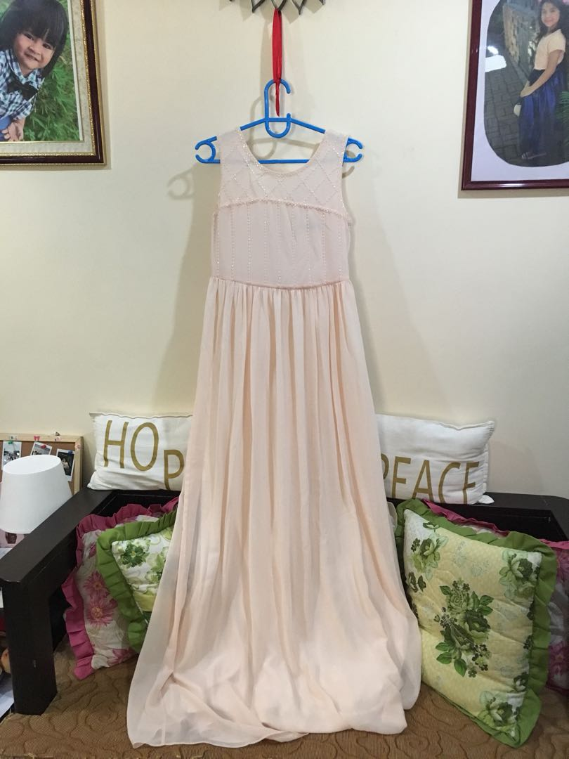 Peach long gown