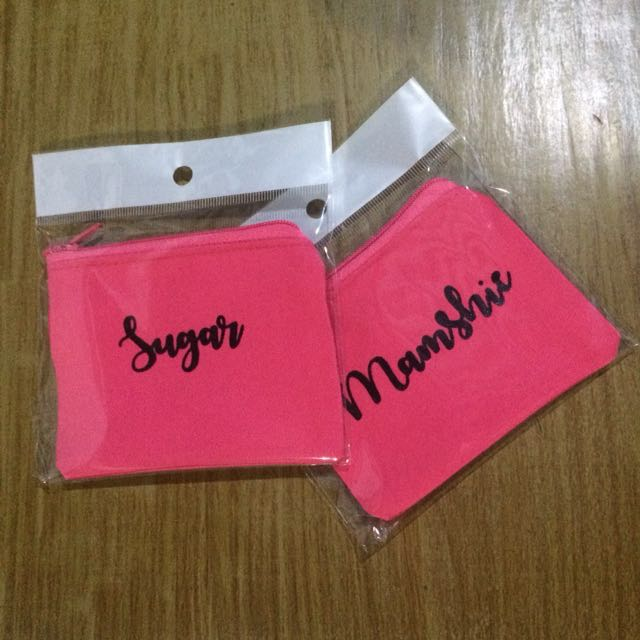 Personalized Colored Pouch