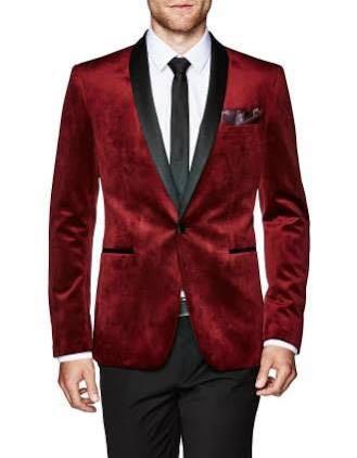Politix Red Velvet Blazer/Jacket