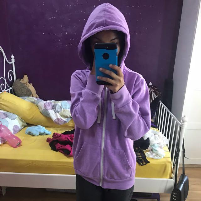 Purple Jacket hoodie sweater