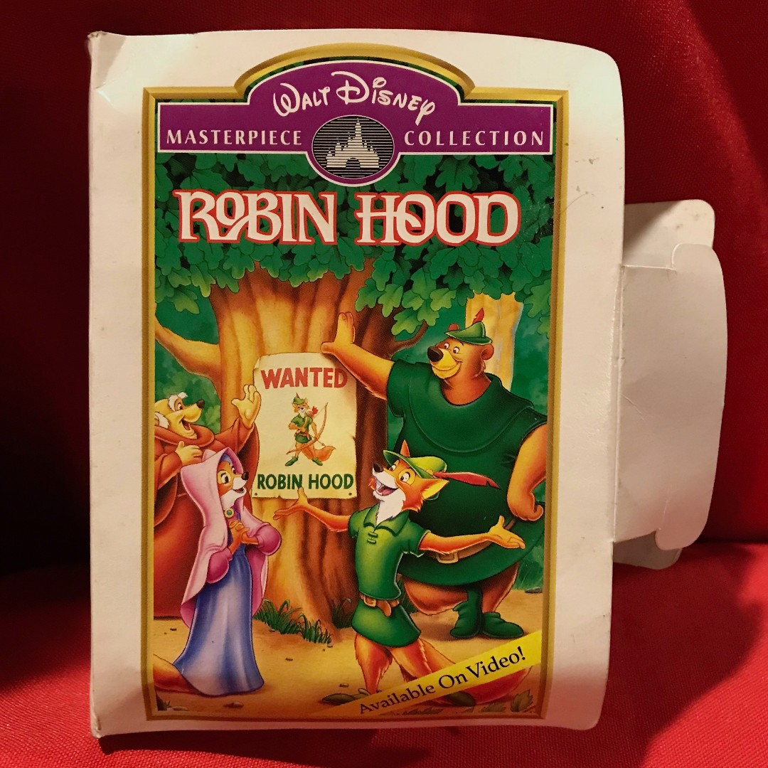 Rare Vintage Masterpiece Collection 1995 Walt Disney Fox Robin Hood with Fuzzy Tail