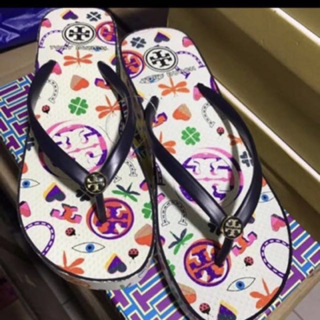 Reprice! Tory Burch wedge Flipflop