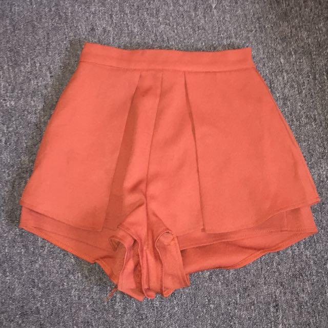 Rust orange high Waist Pants