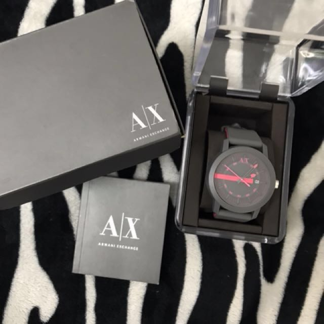 Sale AX Armani Exchange Gray Silicone Women's Watch AX1246