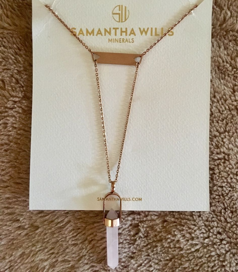 Samantha Wills Rose Gold Mineral Mecklace