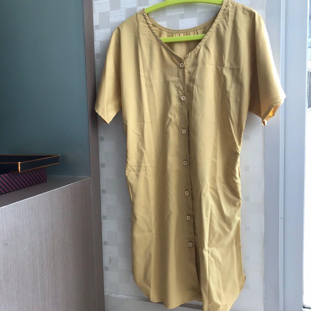 Short Dress/Dress Pendek Mustard