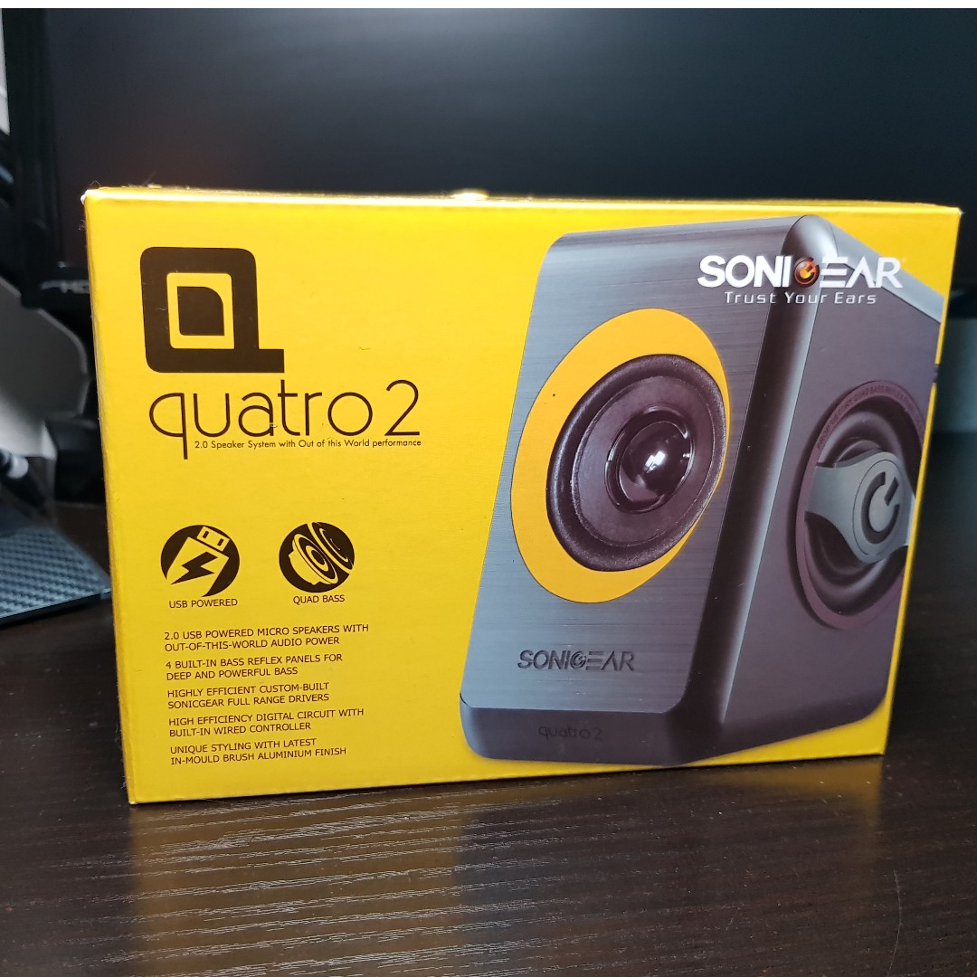 Sonic Gear Quatro 2 Electronics Computer Parts Accessories On Speaker Carousell