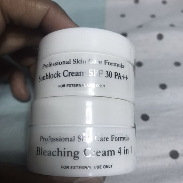 Sunblock and bleaching cream bundle