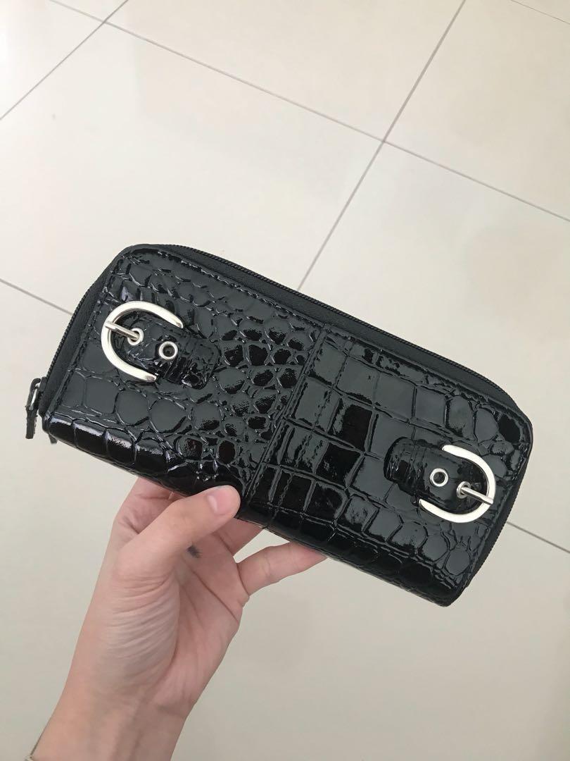 (SUPER GOOD) black croco wallet