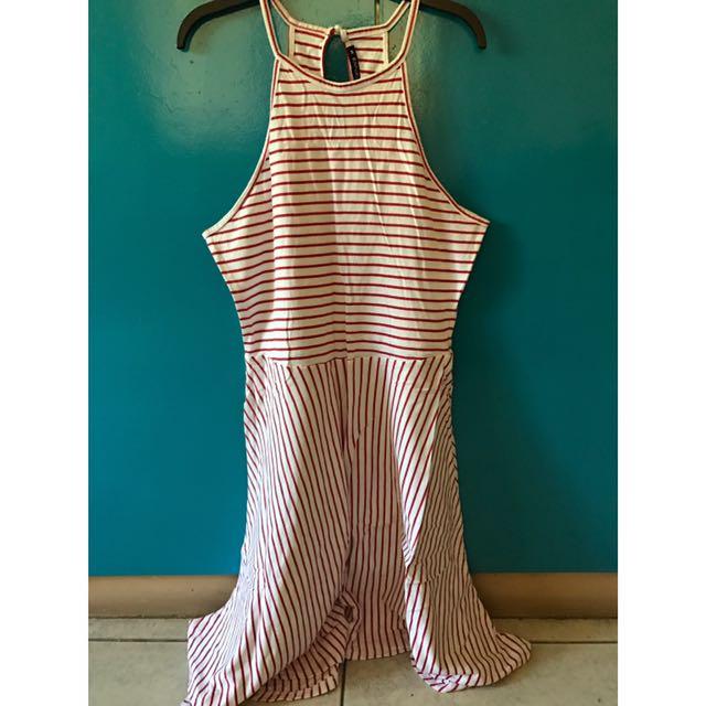 Terranova halter stripes fit&flare dress