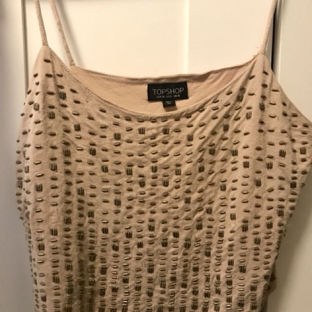 Top shop Sleeveless Top with beads