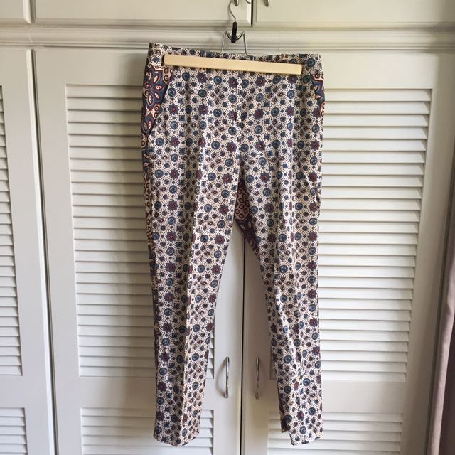 Topshop Printed Cigarettes Trousers