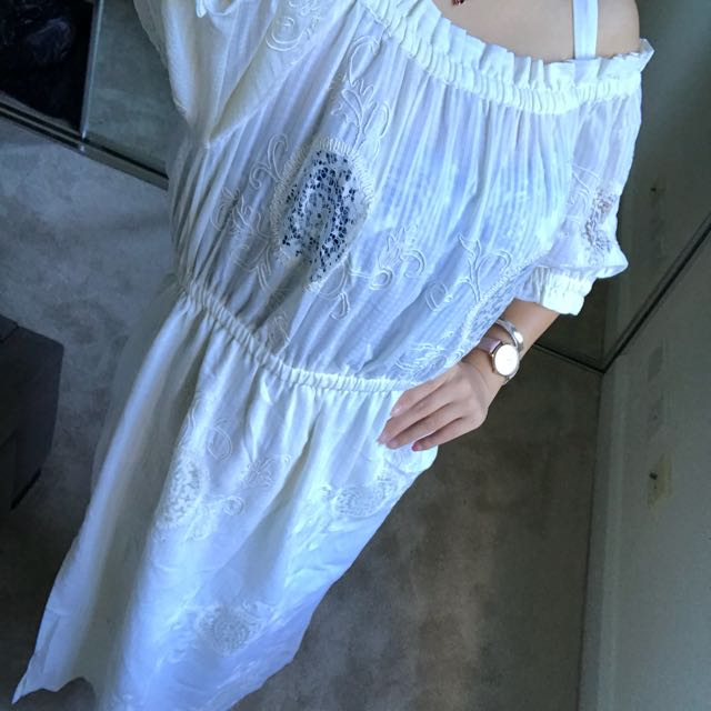 Topshop white dress with details