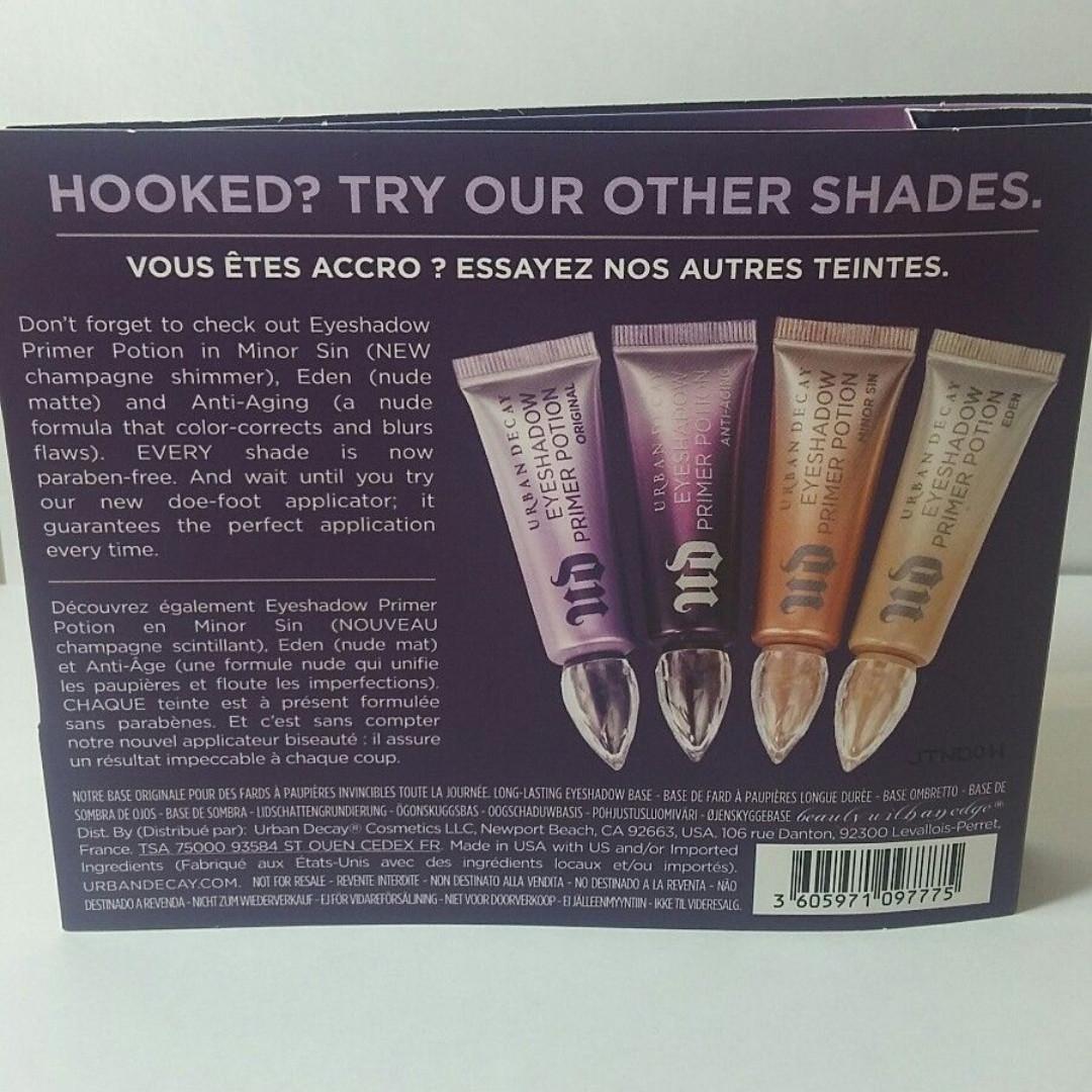 Urban Decay Eyeshadow Primer Potion original sample travel size 2ml NEW + AUTH