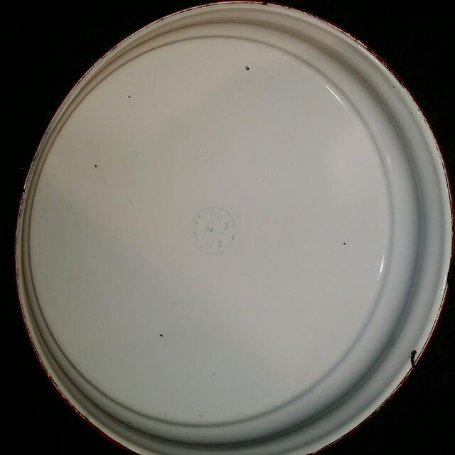 Vintage Chinese Enamel Wedding Wash Basin And Tray