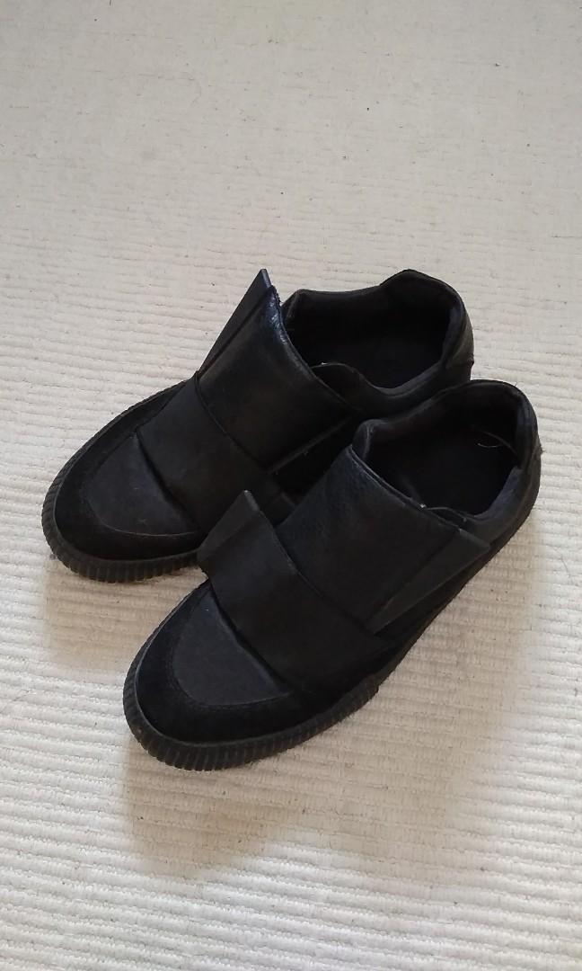 Zara Black Leather Sneakers