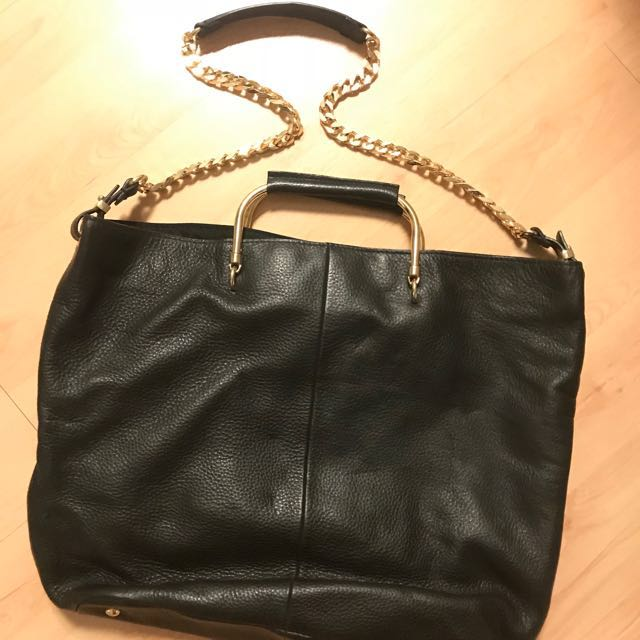 Zara Woman Tote Gold Chain Bag