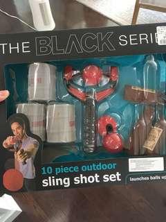 Slingshot target practice game