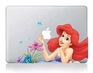 Mermaid Ariel Sticker Macbook / iPad