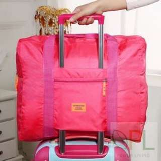 BN Foldable Luggage Bag, Pink