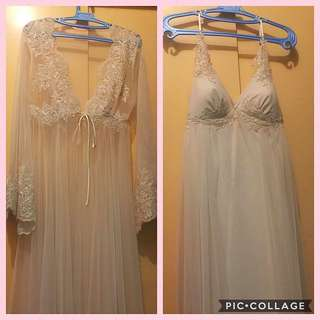2-piece Bridal Robe