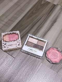 CANMAKE Eyeshadows// Blusher