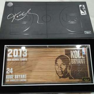 Kobe Bryant 2013 NBA Global Games Shanghai Official Game Floor Tiles. With COA from Panini Authentic Collectible             ( 1514 of 2013 Limited Edition)