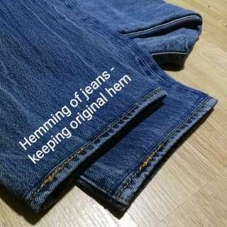 Jeans Alteration - Hemming, adjustments (@ Bukit Panjang)