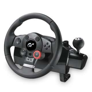 Logitech GT Driving Force Steering Wheel & Pedals