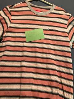 supreme shadow stripe short sleeve tee