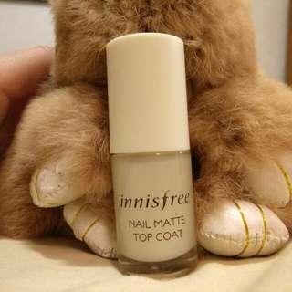 Innisfree nail matte top coat