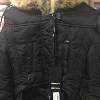 100% Real 98% New Dsquared2 Real Fur Hood Jacket
