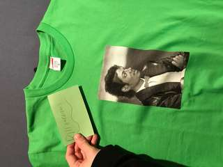 supreme michael jackson lime green box logo tee
