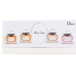 DIOR Miss Dior La Collection 4 Piece Miniature Perfume Gift Set for Women (5ml each)