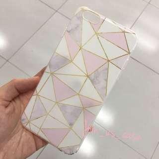 簡約金邊幾何手機殻 (6/6s/6+/6s+/7/7+/8/8+/X)
