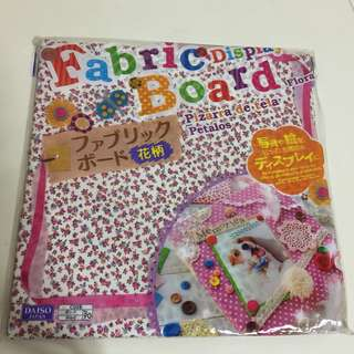 Pretty Floral Fabric Boards for Gift Present Card