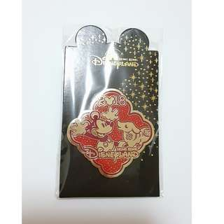 迪士尼 狗年 生肖紀念徽章  Hong Kong Disneyland Year of Dog Pin 2018
