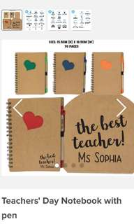 Customised Notebook with pen for teachers' day/children's day/colleagues  (FREE REG MAIL ABOVE 10pcs)