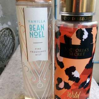Bath and body vanilla bean noel and VS wild vanilla