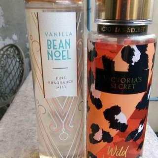 Bath and body vanilla bean noel and VS wild vanilla