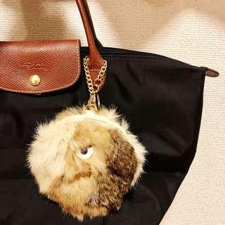 ACCOMMODE 日本代購 毛毛怪獸零錢包 吊飾 鑰匙包 包包裝飾  多用途配件 毛絨絨 拉鍊小零錢包