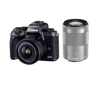 Canon M5 Kit 15-45mm + EF-M 55-200mm