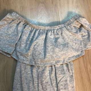 Cotton On grey off shoulder top