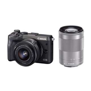 Canon M6 Kit 15-45mm + EF-M 55-200mm