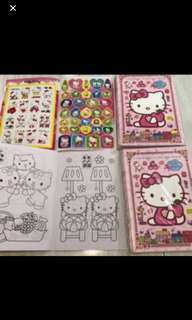 A5 Hello Kitty Coloring And Stickers Book Brand New