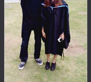 城市大學畢業袍 藍色 連帽