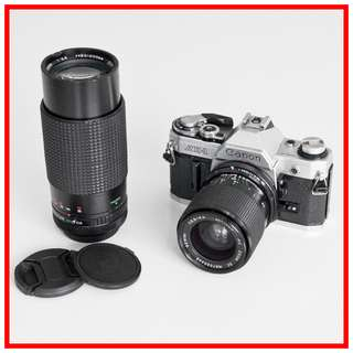 Canon AE-1 (#1698427) Twin Lens Combo (35-70mm F3.5-4.5 + 80-200mm F3.8 Zoom Lenses)