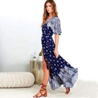 [Out of stock] Maxi Wrap Dress
