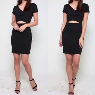 Instock!! Price Greatly Reduced!! Clearance!! Brand New In Plastic Super Sexy And Chic V Cut Front/V Cut Neckline/V Neck Short Sleeves Waist Cut Out Bodycon/Body Hugging Party Dress